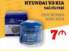 Hyundai Kia yağ filteri