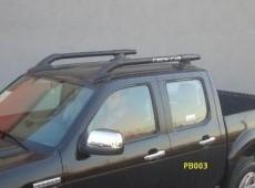 Black roof rails navara